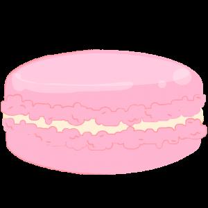 ピンクのマカロン