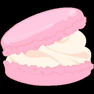 クリームたっぷりピンクのマカロン