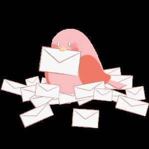 お手紙と鳥