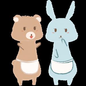 親クマと親ウサギの井戸端会議