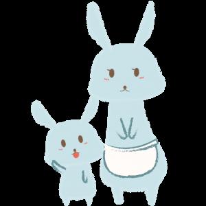 ウサギの親子