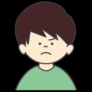 怒る男の子