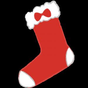 クリスマス靴下(リボン付き)