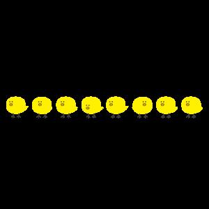 ニワトリヒヨコライン(中央)