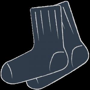 短い黒い靴下(ソックス)