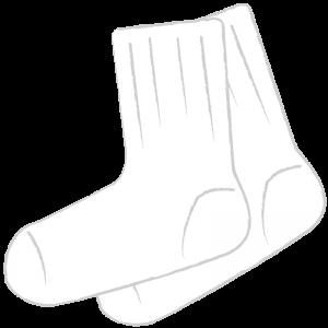 短い白い靴下(白)