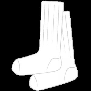 ひざ下丈の白いソックス