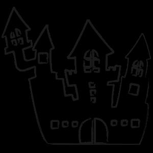 洋風の城のシルエット