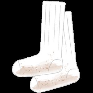 汚い長い靴下