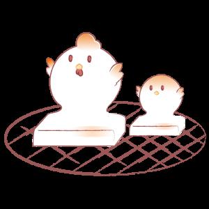 焼餅(ニワトリとヒヨコ)