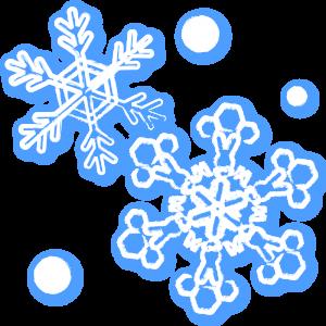 雪の結晶(ぼかし)