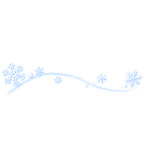 雪の結晶ライン(ぼかし)