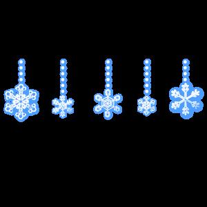 雪の結晶オーナメントライン