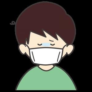 風邪をひいた男の子