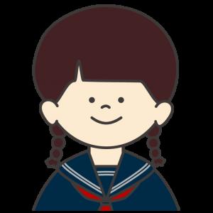学生服(セーラー服)を着た女子生徒