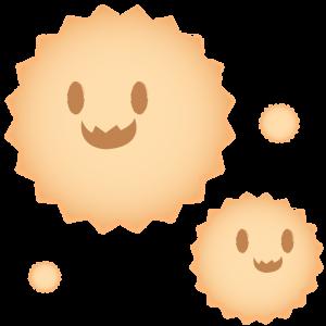 顔のある花粉