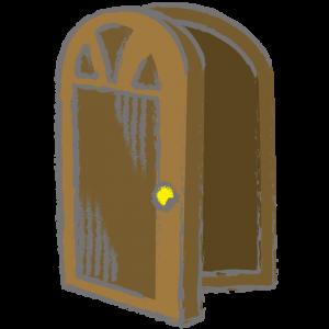 半開きの扉
