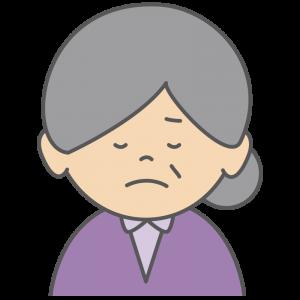悲しむおばあさん