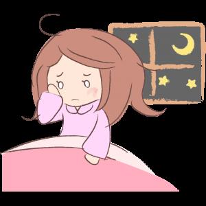 眠れない人