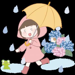 雨と子ども