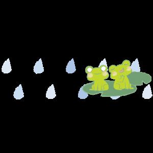 雨とカエルライン