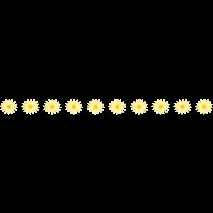 黄色い花のライン