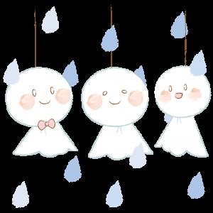 雨とてるてる坊主