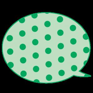 水玉の吹き出し(緑色)