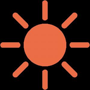太陽(晴れマーク)