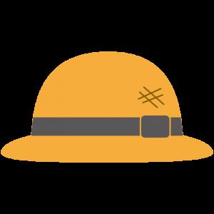 麦わら帽子(黒いリボン)