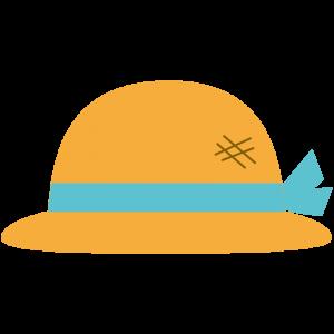 麦わら帽子(青いリボン)