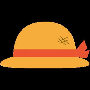 麦わら帽子(赤いリボン)