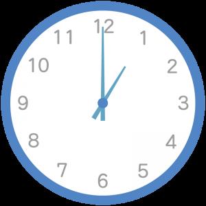 青色の時計