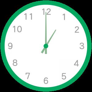 緑色の時計