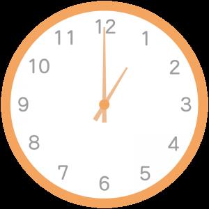 オレンジ色の時計