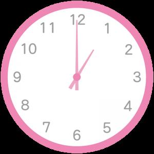 ピンク色の時計