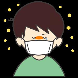 花粉症の男の子