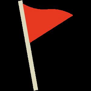 赤色の旗(フラッグ)