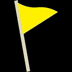 黄色の旗(フラッグ)