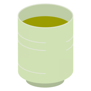 緑茶が入った湯飲み