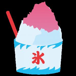 かき氷(イチゴ味)