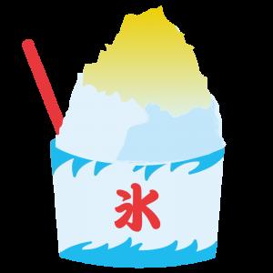 かき氷(レモン味)