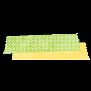 マスキングテープ(黄緑と黄色)