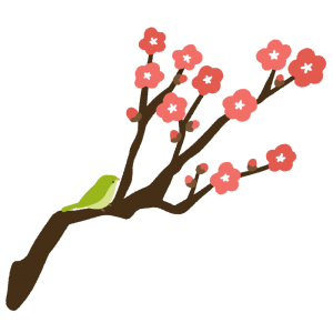梅とウグイス
