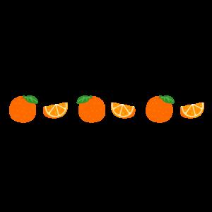 オレンジのライン(カット)