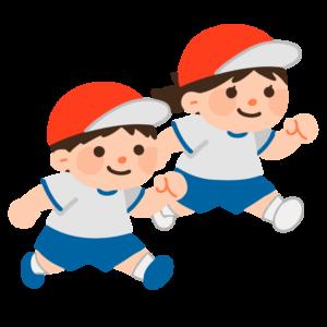 走る子どもたち(体操服)